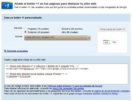 Añadir botón Google +1